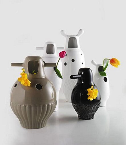 Unusual Porcelain Vases With Holes For Flowers Decorative Home Accessories For Modern Homes