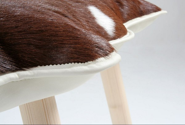 modern furniture cushions made of fur and leather