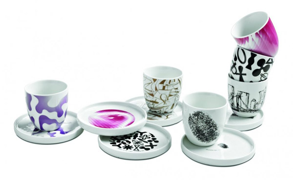 designer tableware in black and white colors