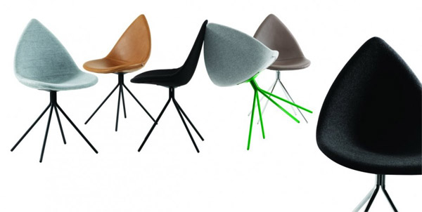 contemporary dining chairs inspired by leaf shape