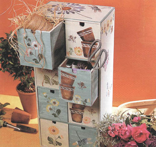 Wooden Furniture Decoration with Stencils  Furniture Painting Ideas