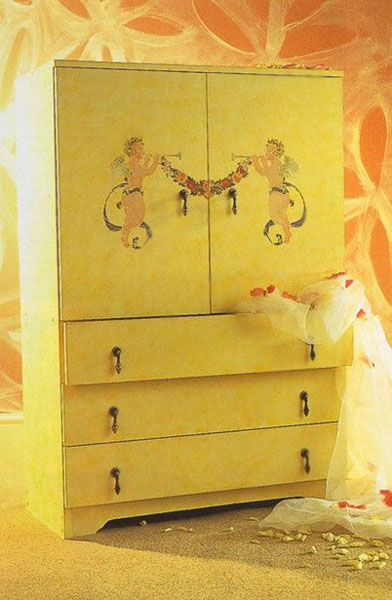 Wooden Furniture Decoration With Stencils 15 Furniture
