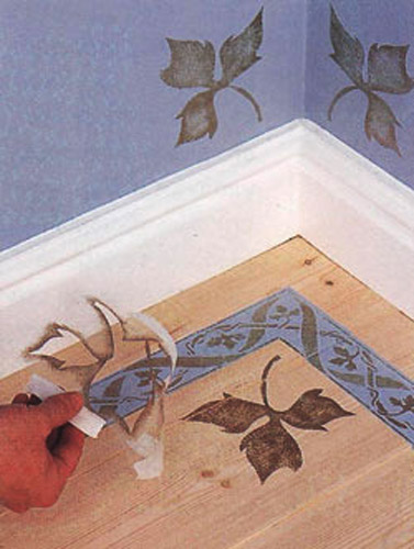 painting ideas for floor decoration with stencils