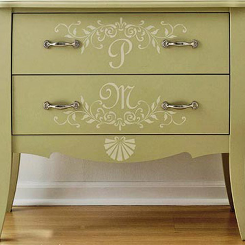 stenciling and painting ideas for old furniture decoration