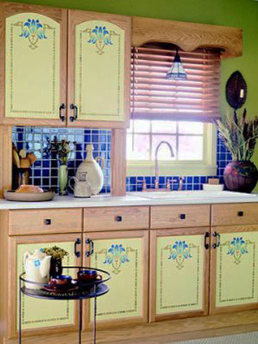 stenciling for kitchen cabinets decoration