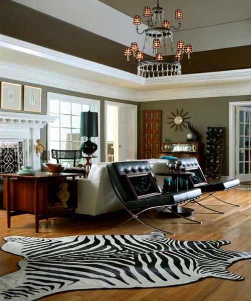 black and white home furnishings
