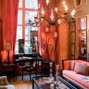 pink and orange fabrics for interior decorating