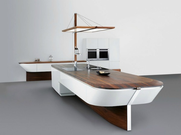 Nautical decor contemporary kitchen design inspired by for Nautical kitchen designs