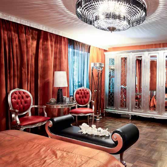 home furnishings in orange color