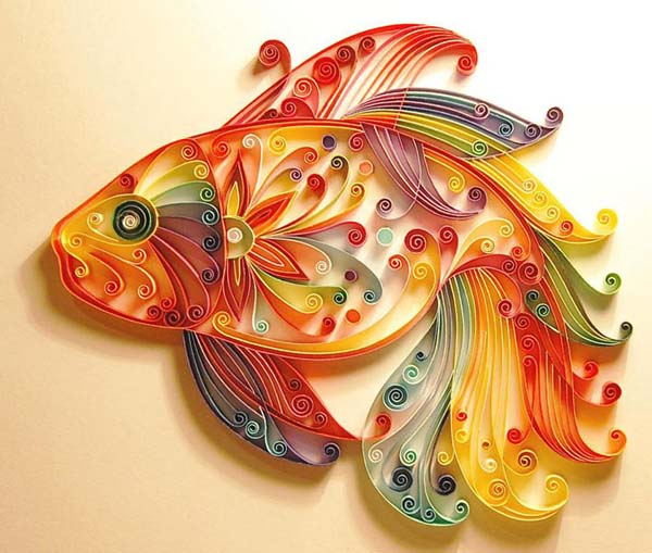 Unique Paper Art, Craft Ideas And Quilling Designs From