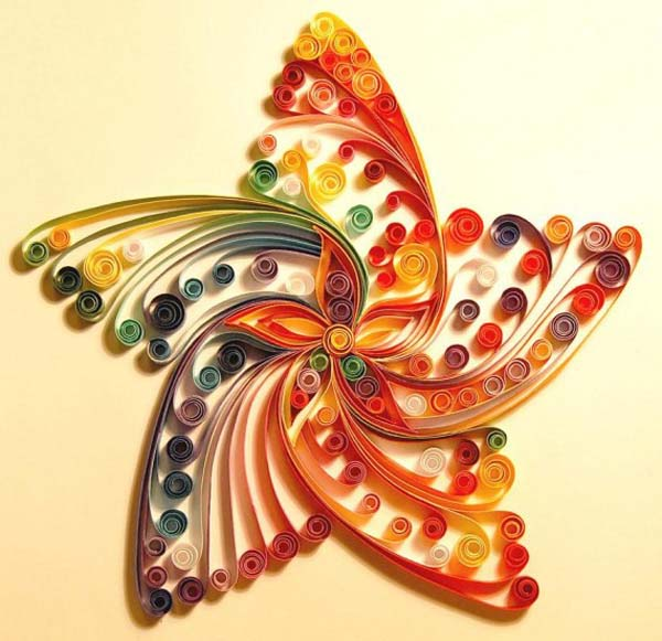 quilled star