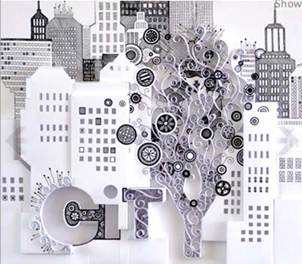cityscape quills in white color