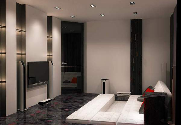 apartment-ideas-black-white-color-red-accents (4)