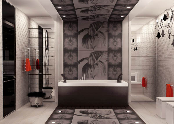 apartment-ideas-black-white-color-red-accents (8)