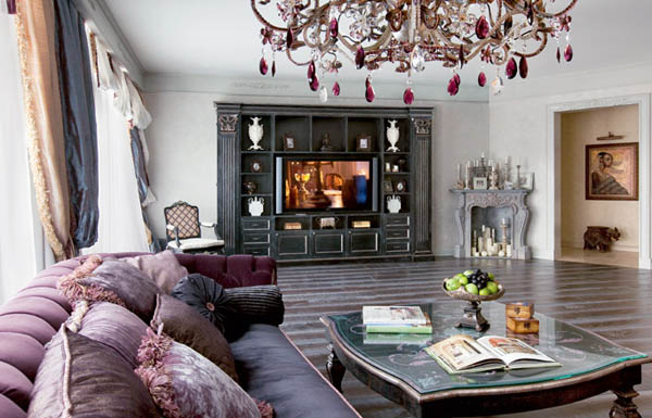 glamorous mediterranean style living room decor | Luxurious Apartment Ideas, Interior Decorating in ...