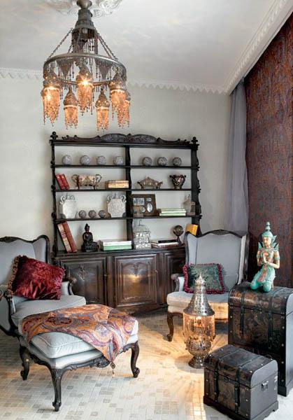 hookah room decorating in eastern mediterranean style