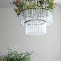 glass chandelier in art deco style