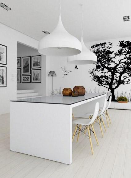 Black And White Decor 18 Modern Interior Decorating Ideas