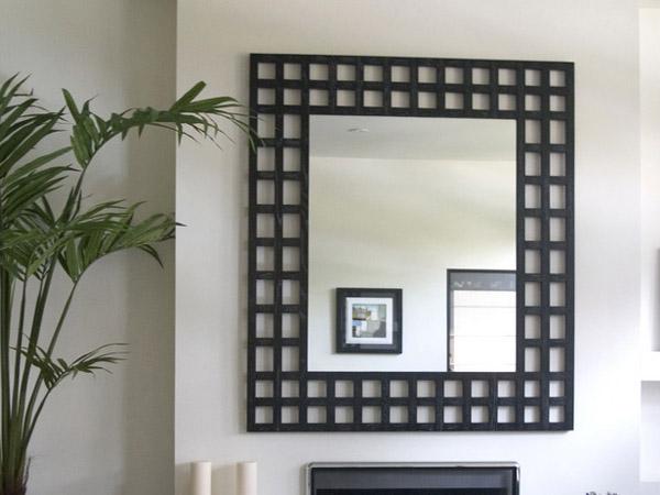 Mirror Frame Decorating Ideas Black and white mirror frame