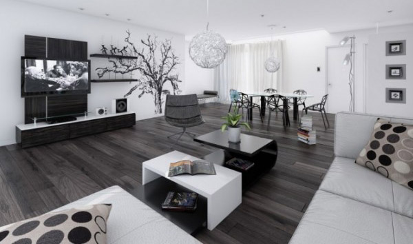 Black And White Decorating black and white decor, 18 modern interior decorating ideas