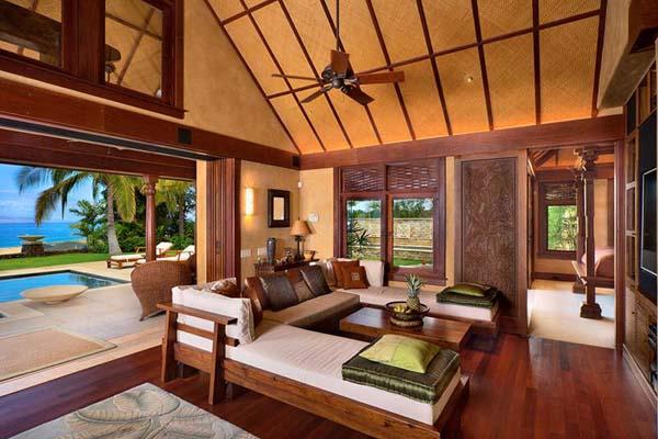 hawaiian decor for living room
