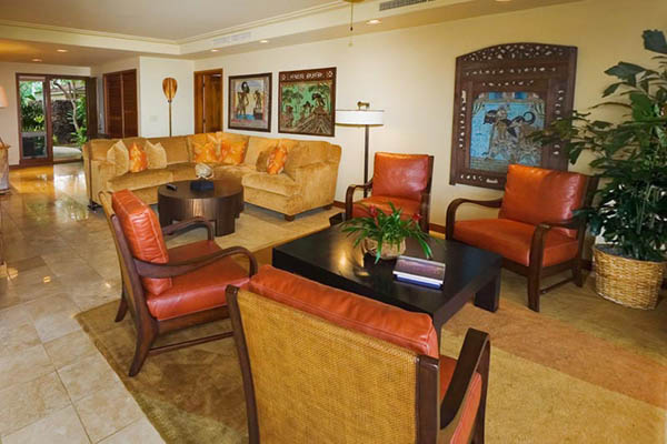 living room decorating with hawaiian decor accessories