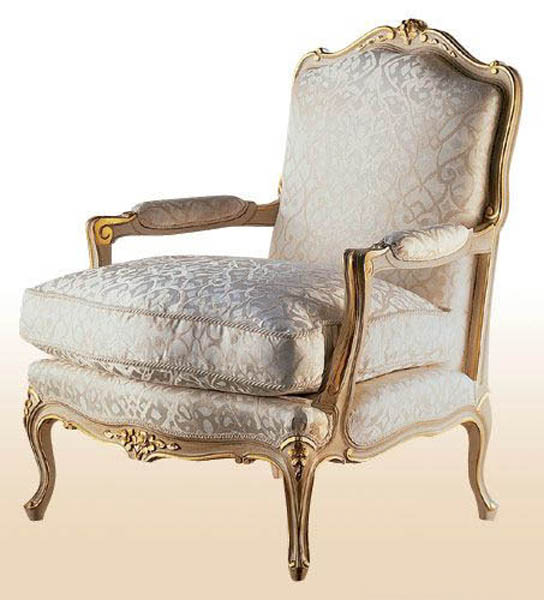 rococo arm chair for classic interior design