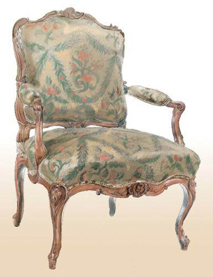 arm chair for classic interior design