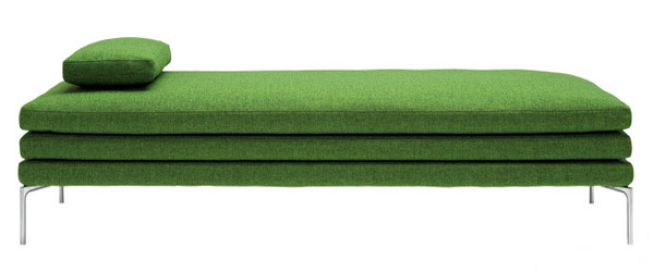 day bed in green color from zanotta