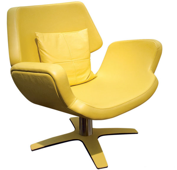 Futuristic Chair In Yellow By Umberto Asnago