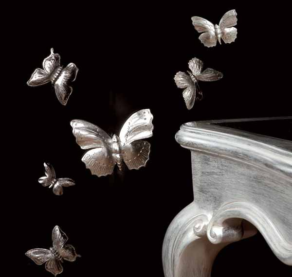 silver butterflies for furniture decoration