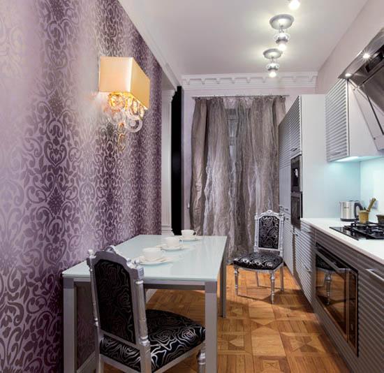 Silver Black And Lavender Color Combination Chic Interior