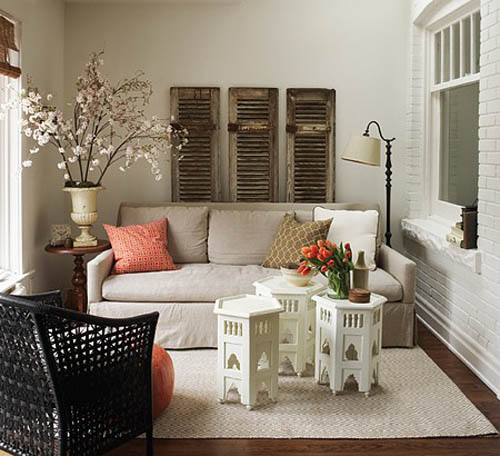large branches with white flowers for spring home decorating