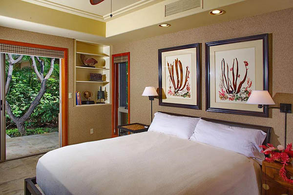 wall decorations for adding tropical decor theme to modern bedroom - Tropical Decor