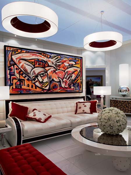 Art Nouveau Decor Modern Living Room Decorating Ideas In