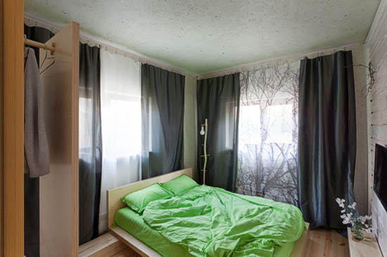 bedroom decorating in gray and green colors