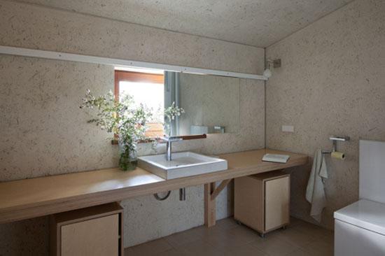 modern bathroom in eco style