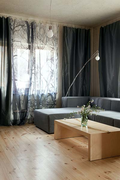 window curtains with tree branches for living room decorating