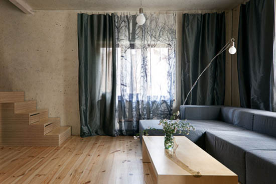 window curtains with tree branches