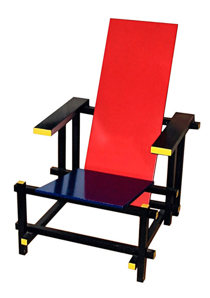 red blue chair design