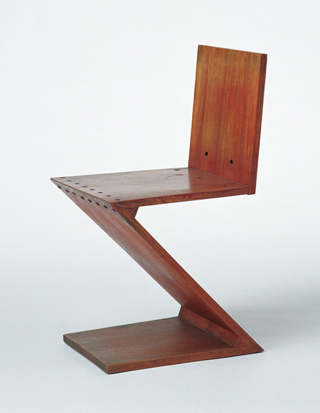 wooden chair zig zag