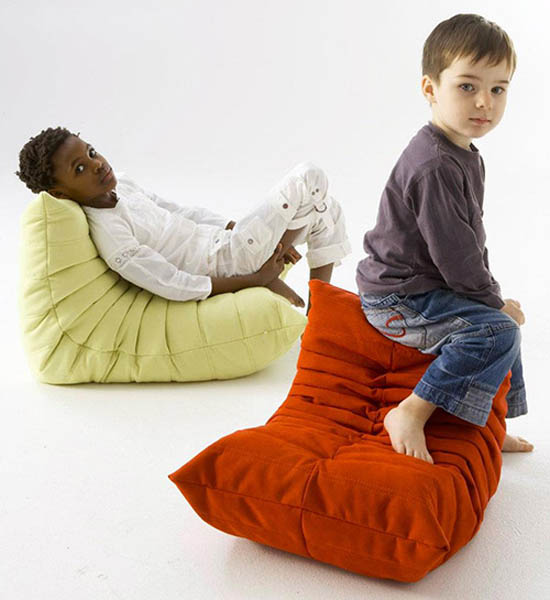 green and red chairs for kids rooms, designer furniture for children