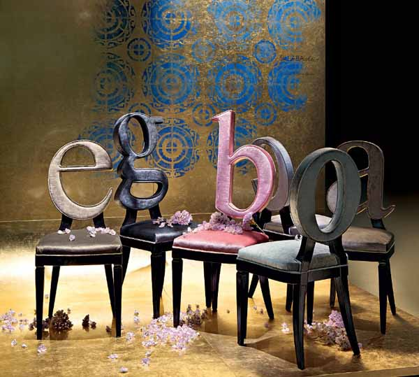 Charming dining chairs of ego 024 dining room decorating for Furniture 6 letters