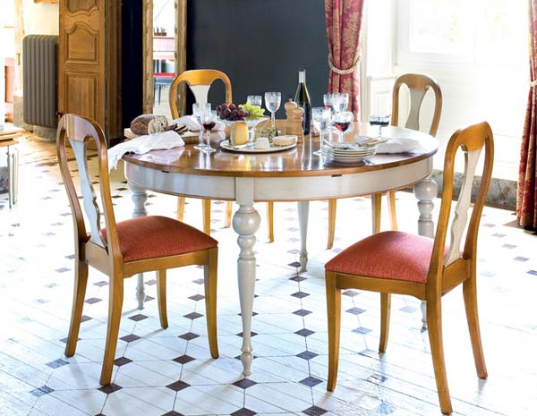 round table and chairs made of wood
