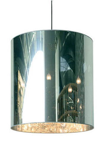 hanging lamp with cylindrical lamp shade