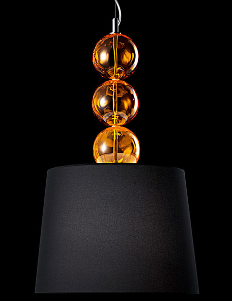 hanging lamp with glass balls