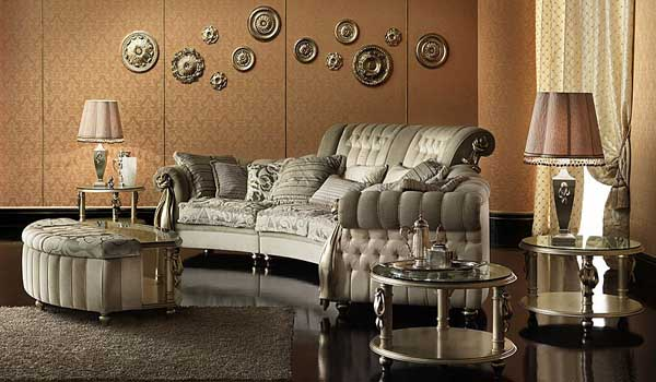Modern Furniture Design In Italian Style, Baroque Living Room Furniture  From Italian Designers