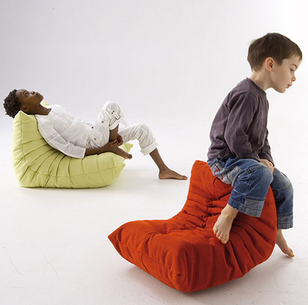 Mini togo chairs playful kids furniture design from ligne for Kids seating furniture