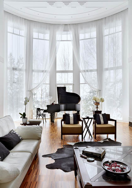 living room furniture and piano