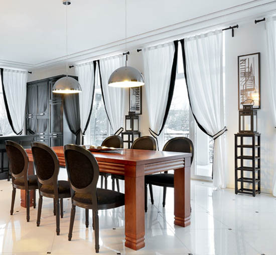 dining furniture and contemporary lights